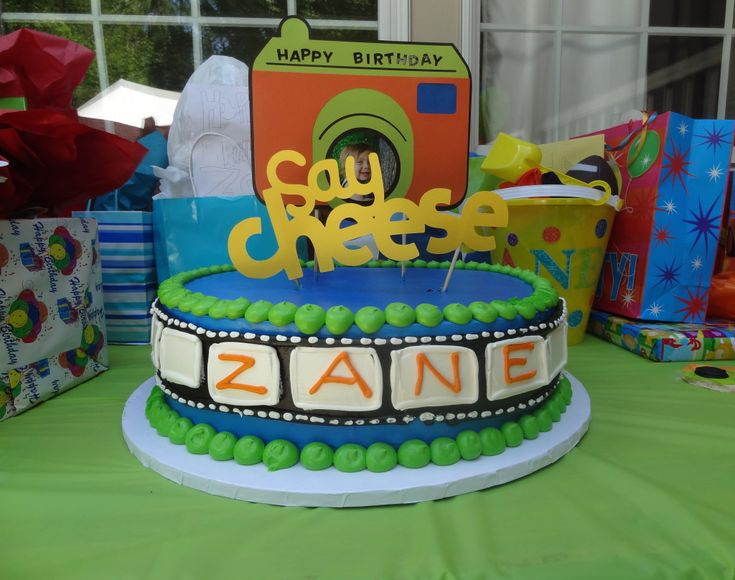 """Say Cheese!"" Birthday Party - so many great ideas! {click to see more party images}Emmett Birthday, Birthday Celebrities, Kidsparty Partyideas, Kids Birthday, Birthday Parties, Birthdays, Cheese, Parties Ideas, Great Ideas"