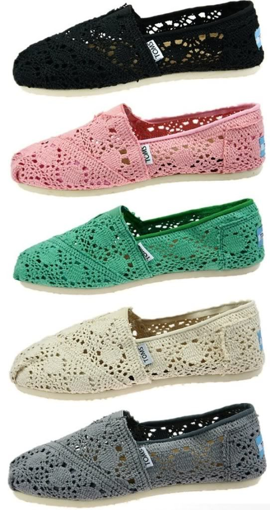 Love theseLace Toms, One Colors Tom Shoes, Toms 3, Clothing Sho, Crochet Toms, Tom 3, Shoes 3, Lace Shoes, Dreams Closets