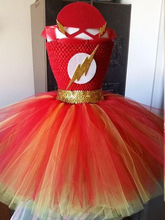 Flash Costume Tutu Dress with Mask
