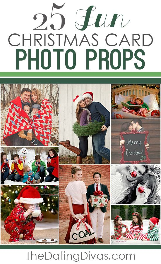 101 Creative Christmas Card Ideas and 25 photo prop ideas!
