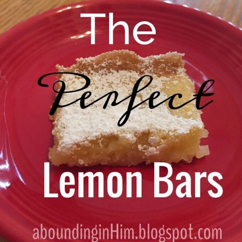Abounding In Him: The Perfect Lemon Bars