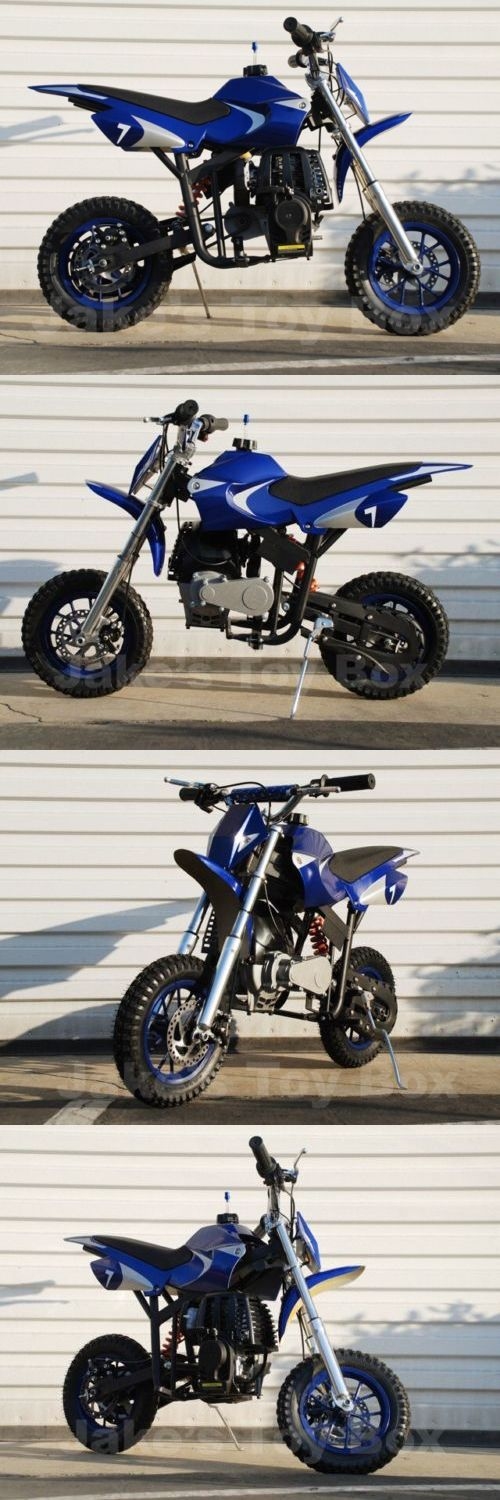 Gas Scooters 75211: Gas Powered Mini Dirt Bike - Pit Bike For Kids - No Mixing, Free Shipping - Blue -> BUY IT NOW ONLY: $299 on eBay!