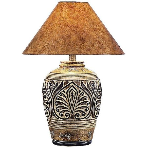 Universal Lighting and Decor Brown Desert Sand Handcrafted Southwest... ($130) ❤ liked on Polyvore featuring home, lighting, table lamps, brown, brown lamps, brown table lamps, hand made lamps, handmade table lamps and brown shade