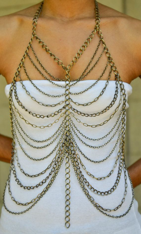 Butterfly Body Chain by CanDidArtAccessories on Etsy, $140.00