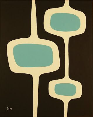 New Blog Mad for Mid Century Mid Century Art Donna Mibus