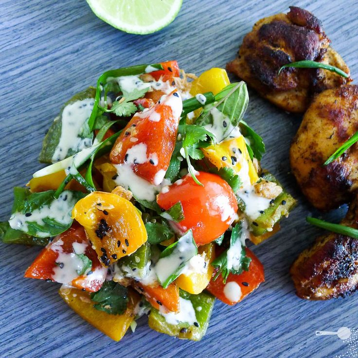 Cambodian Grilled Capsicum Salad with Sesame Dressing - http://wholesome-cook.com/2011/07/12/cambodian-cooking-grilled-capsicum-salad-with-sesame-dressing/
