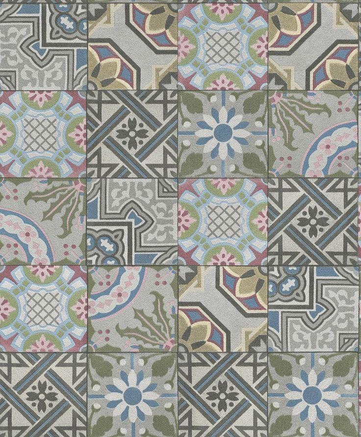 Papel pintado cocina PDW9526301 azulejos