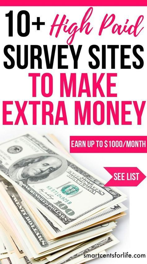 Over 10 high pay survey sites to make $1000 per month of extra income. Ideal for moms, college students or anyone who wants to earn extra money working from home or anywhere! extra income | earn money | stay at home jobs | stay at home mom jobs |survey for money | make money fast | extra cash | make money at home | make money online | earn extra money | side hustle ideas #makeextramoney #workfromhomejobs #makemoneyonline