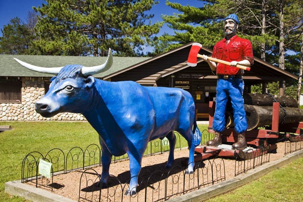 paul bunyan and babe his blue ox