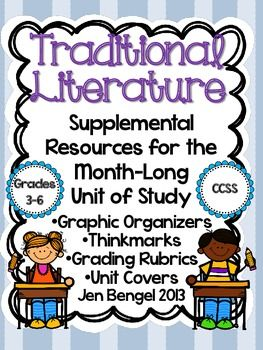 This supplemental resource supports the unit of study available in my store for Traditional Literature for the Reading and Writing Workshops. Included are 20 graphic organizers, 20 thinkmarks/bookmarks, a revising checklist, an editing checklist, cover pages, and final writing rubrics.