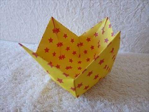 【ハンドメイド】折り紙「箱」折り方・作り方5 How to make a box in origami part 5