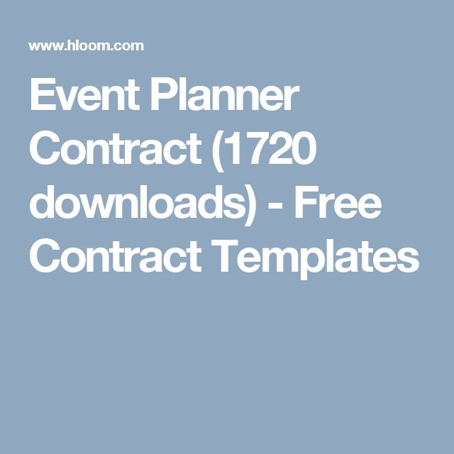 Free Event Planner Contract Template Contract Template For Event
