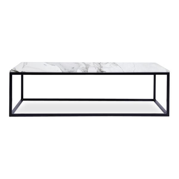 Get This Elegant 100 Marble Top Rectangle Coffee Table With Black