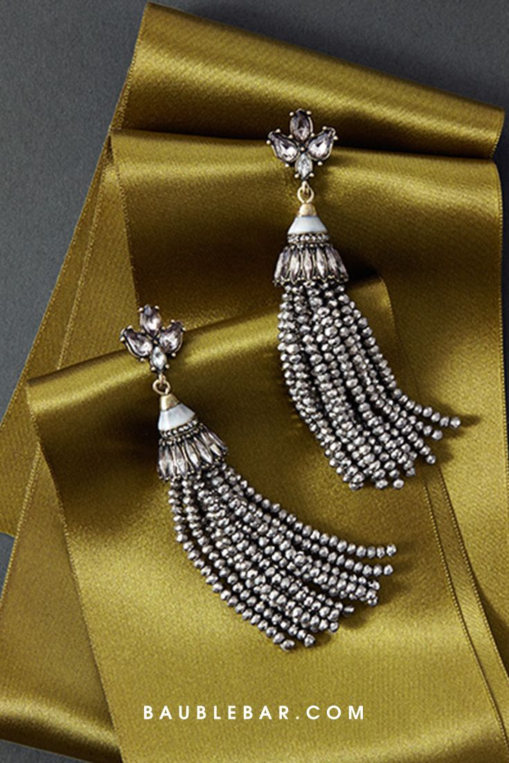 Iridescent beads and tassels make these earrings total knockouts.