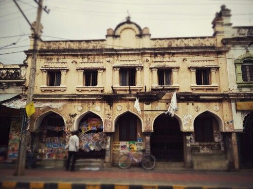 Old closed down bazaar mysore india