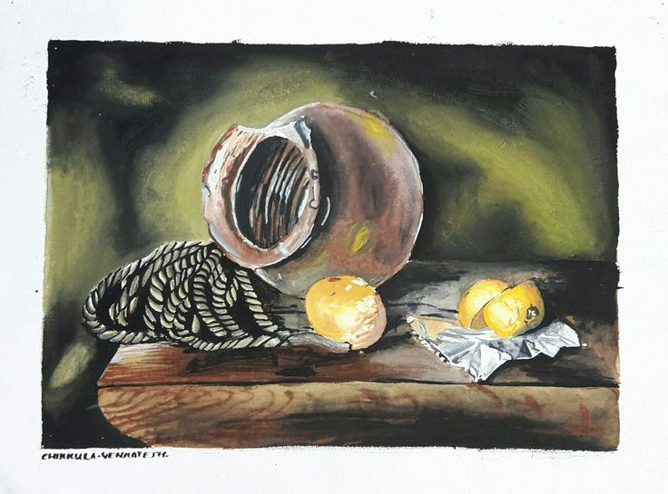 Still life painting colour.......