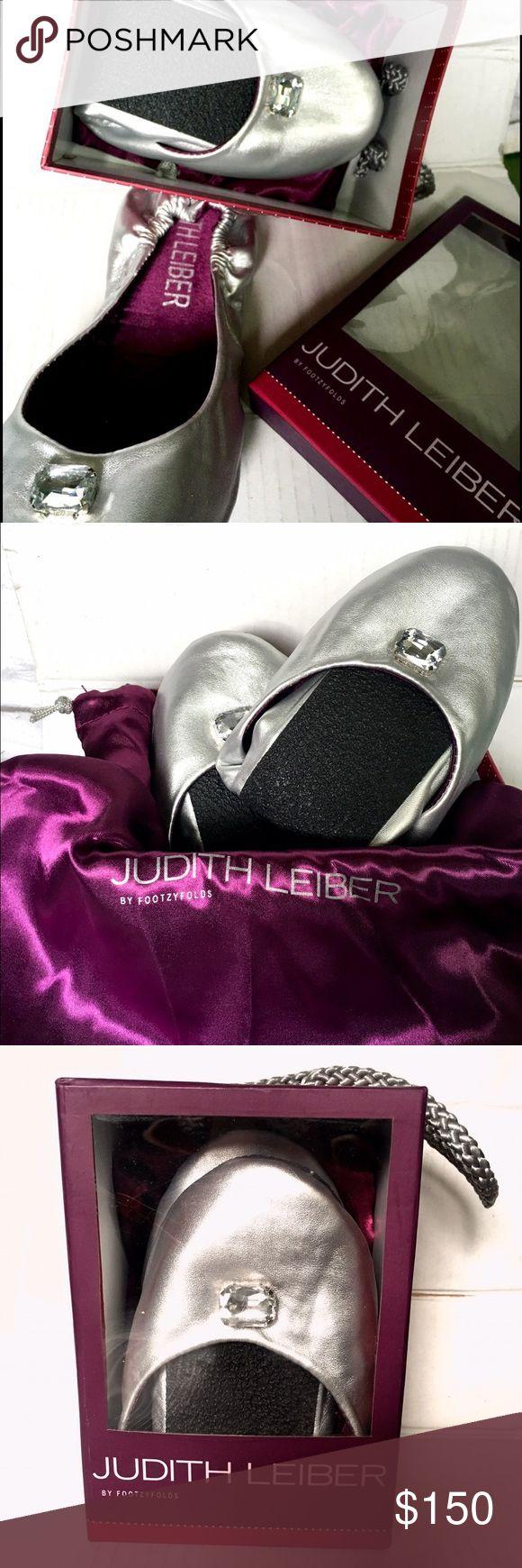 Selling this JUDITH LEIBER Silver Foldable Ballet Flat M7.5/8.5 on Poshmark! My username is: nyccoco. #shopmycloset #poshmark #fashion #shopping #style #forsale #JUDITH LEIBER #Shoes
