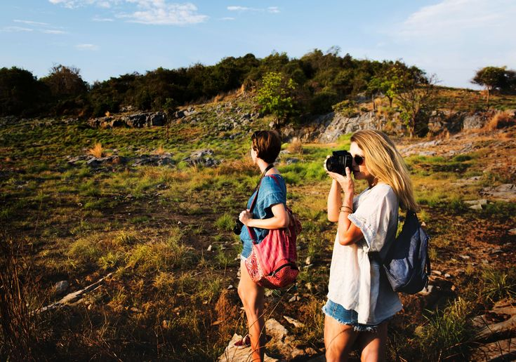 #adventure #attractive #backpack #bag #beautiful #blonde #camera #capture #clouds #enjoyment #females #girls #grass #hike #hiking #idyllic #ladies #leisure #peaceful #photography #plants #rocks #sce