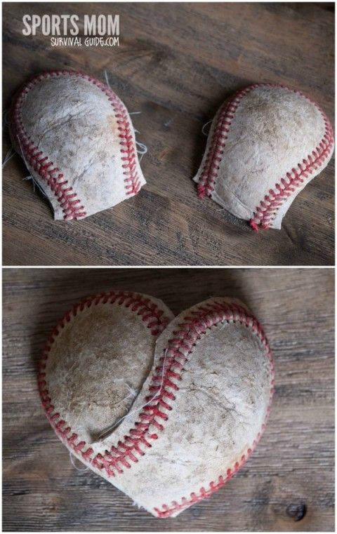 How to Make a Heart out of a Baseball @lauranicole1013 I thought of you with Cliff and the boys