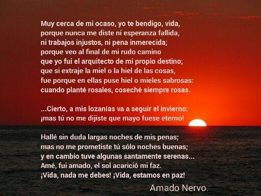 En paz.  Amado Nervo.