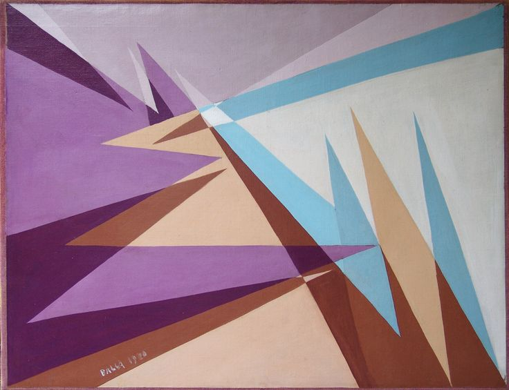 "Giacomo Balla - ""linee-spaziali"" (spatial-lines), oil on canvas"