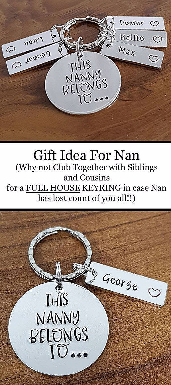 I Love Heart MY NANNY KEYRING Gift Present Family Granny Grandma Grandparent
