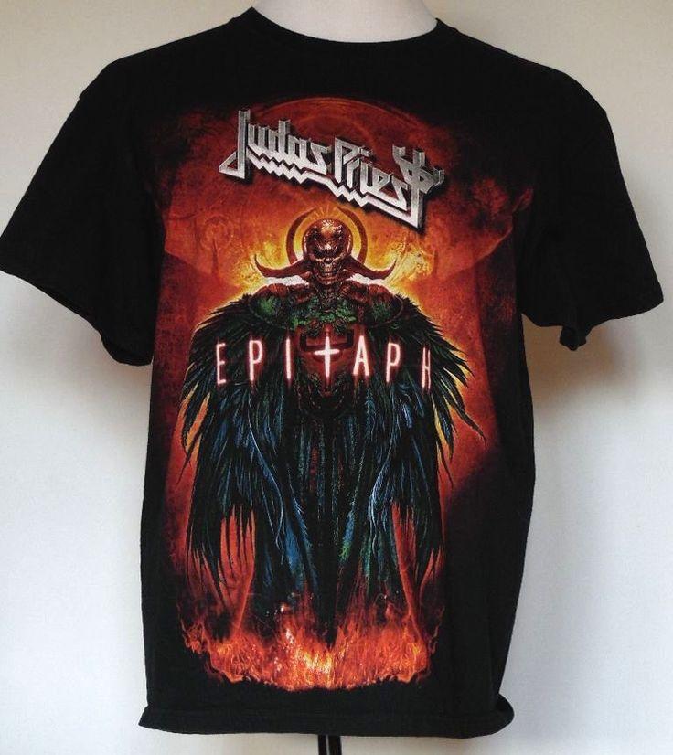 Judas Priest Epitaph World Tour 2011-2012 Black Concert T-Shirt L