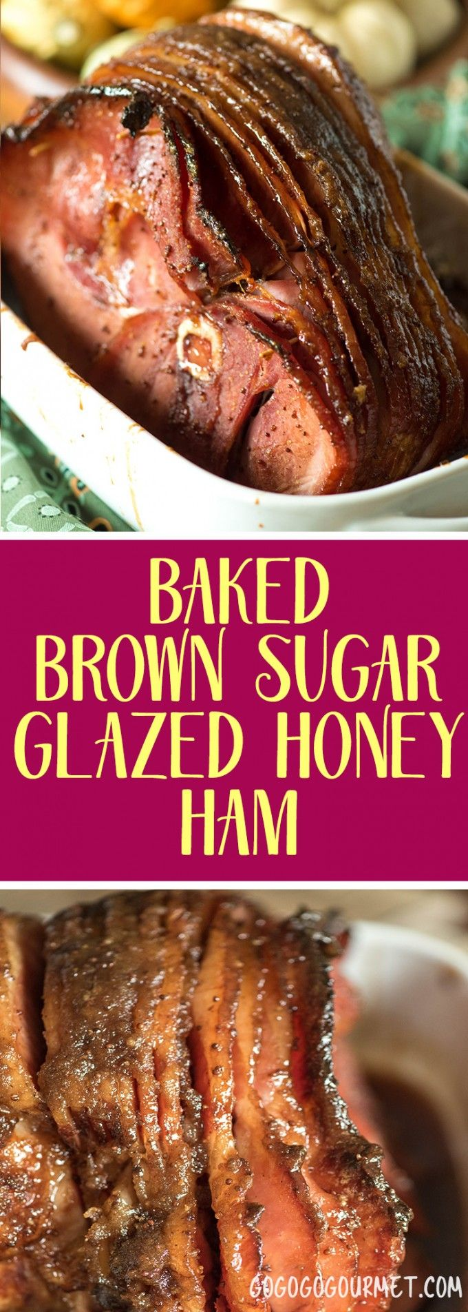 Super simple, yet super delicious, this glaze is the best way to dress up a ham! Brown Sugar Honey Glazed Ham | Go Go Go Gourmet @Go Go Go Gourmet