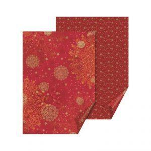 Бумага с рисунком Кристалл двустор. Красная Heyda