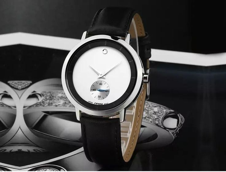 Luxury watch with genuine leather for man