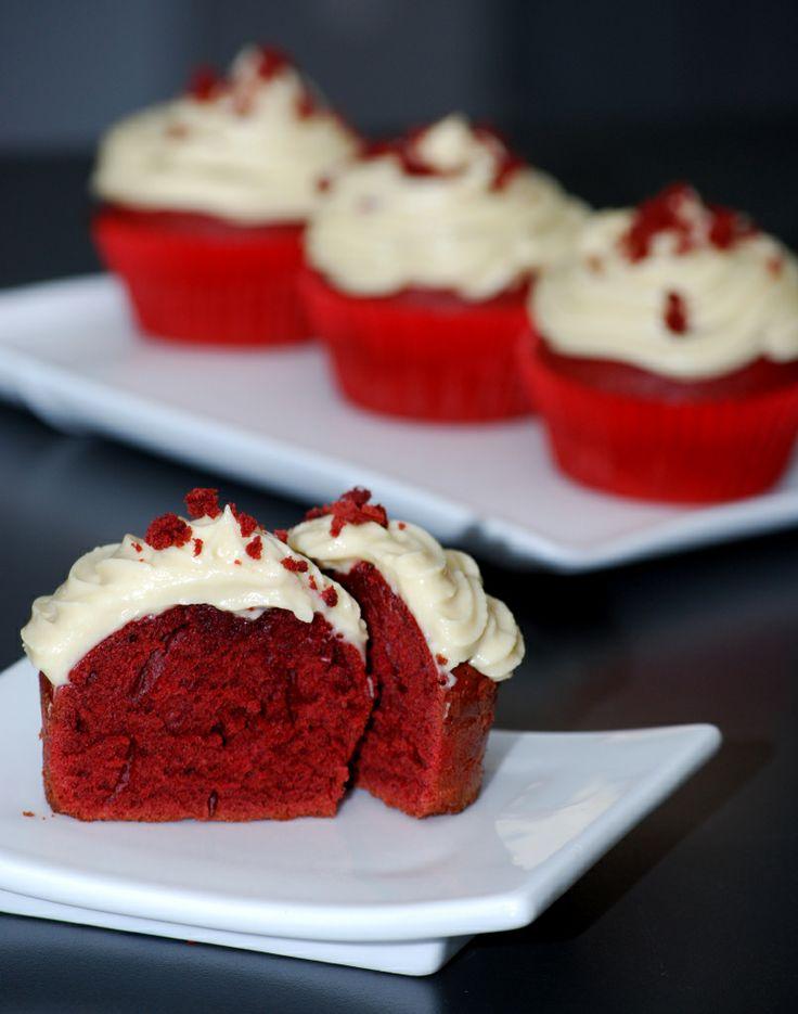 Red Velvet Cupcakes for Valentine's Day.