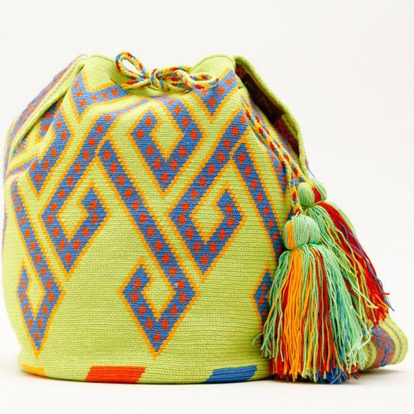 WAYUU TRIBE | #Handmade Bohemian Bags made by the indigenous Wayuu Tribe in Colombia. #Mochila #Crochet #Knit #yarn #moda