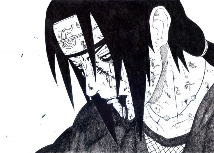 Itachi Farewell Poster By Ginko Displate In 2021 Itachi Black And White Aesthetic Black And White Picture Wall
