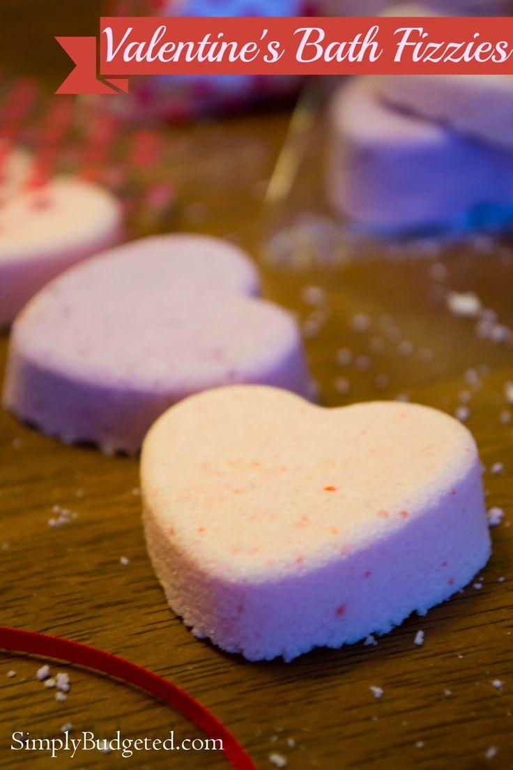 Valentine's Bath Fizzies lovely budget idea
