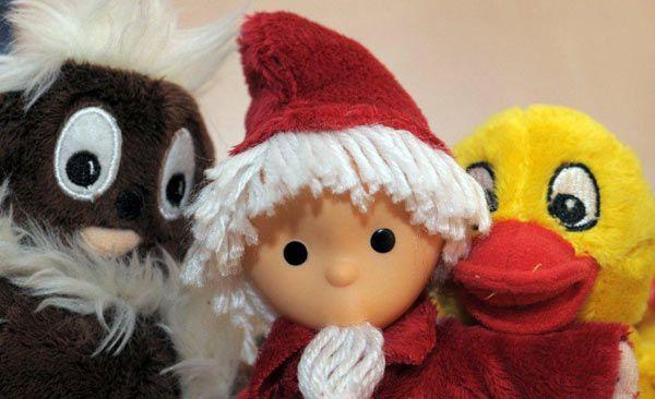 Pittiplatsch, Schnatterinchen und Sandmännchen sind Freunde.