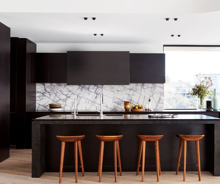 black or white furniture. custom blackstained american oak kitchen joinery by dsk kitchens furniture new york marble splashback from snb stone black or white a