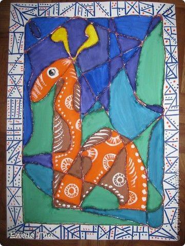 Мастер-класс Урок рисования Рисование и живопись Фантазия 2 Гуашь Нитки фото 1