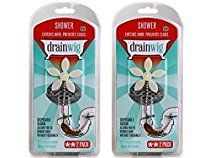 DrainWig Shower Drain Hair Catcher (TWO 2-Packs) - Never Clean a Clogged Drain Again!