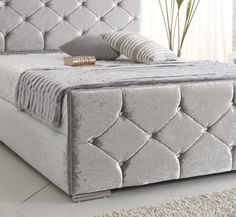 Best crushed velvet double bed for sale in Uk.
