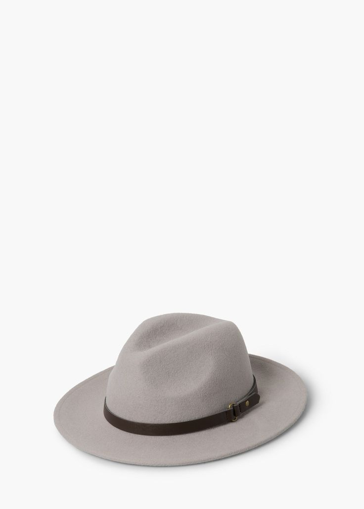 Wool fedora hat -  Women | MANGO