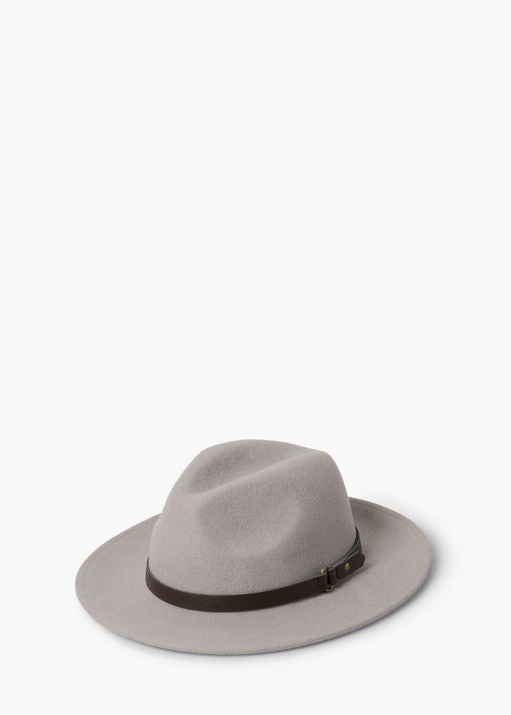 Chapéu fedora lã r | MANGO  REF. 53095578 - ALE C  25,99€