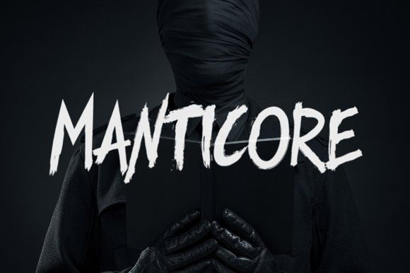 Manticore - Brush Font by Tugcu Design Co. on @creativemarket