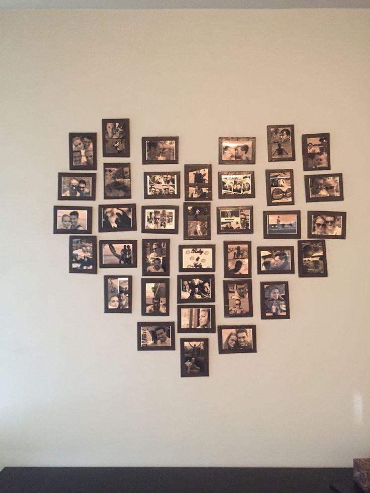 Dekorace na zeď srdce z fotografií