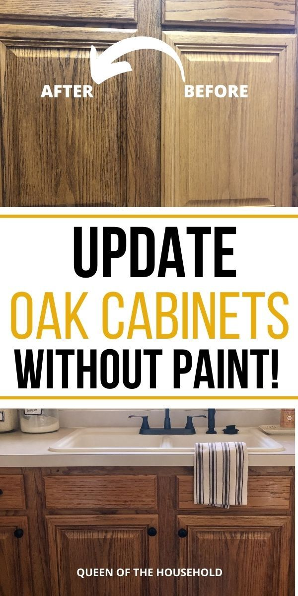 How To Update Oak Cabinets Without, How To Freshen Up Kitchen Cabinets Without Painting