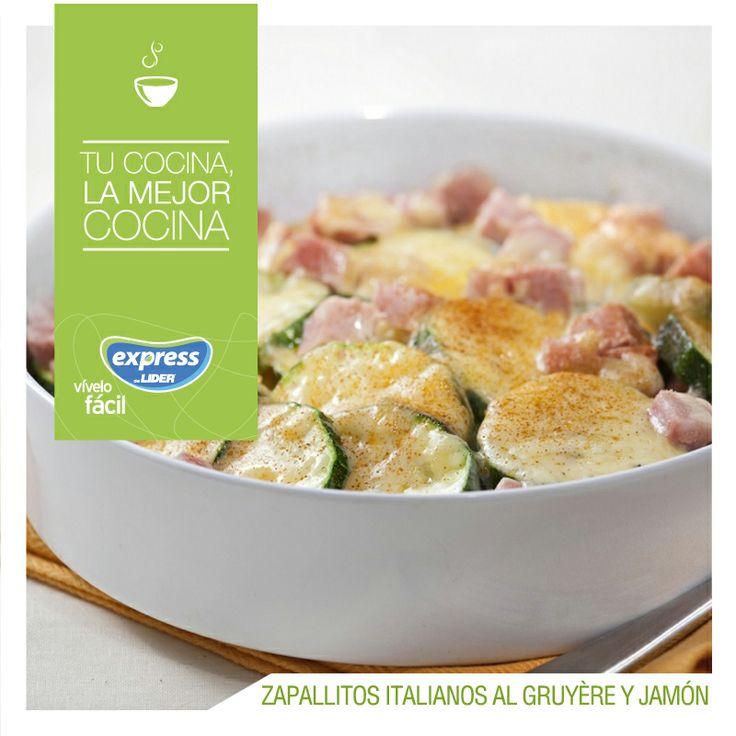 Zapallitos italianos al gruyère y jamón. #Recetario #Receta #RecetarioExpress…