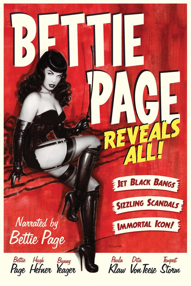 Bettie Page Reveals All Movie Poster - Bettie Page, Hugh Hefner, Bunny Yeager  #BettiePageRevealsAll, #MoviePoster, #Documentary, #MarkMori, #BunnyYeager, #HughHefner