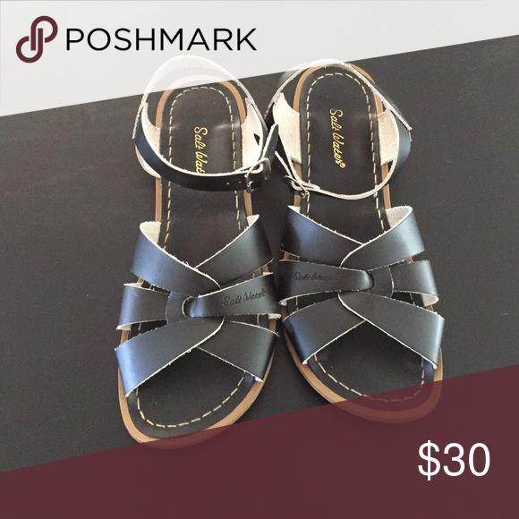 Salt water sandal Black salt waters only worn once Salt water Shoes Sandals