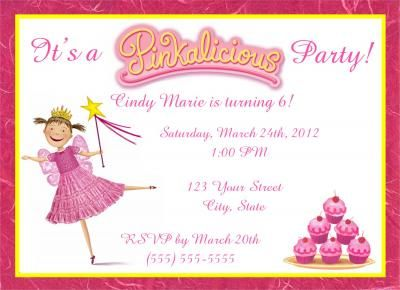 39 best Hannahs 7th Party images – Pinkalicious Party Invitations