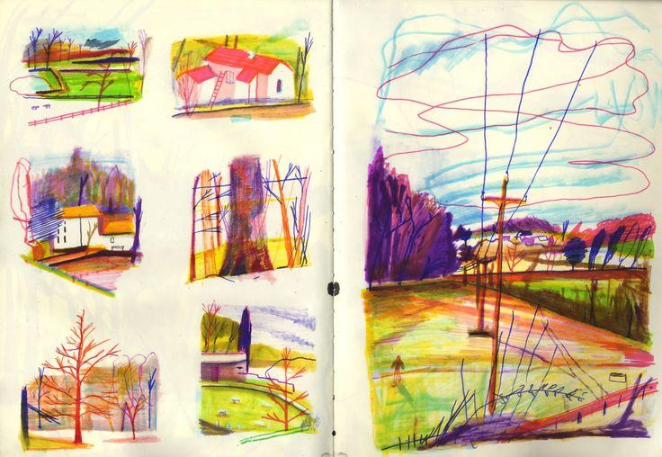Yann Kebbi sketchbook Great to do small quick studies alongside a longer drawing