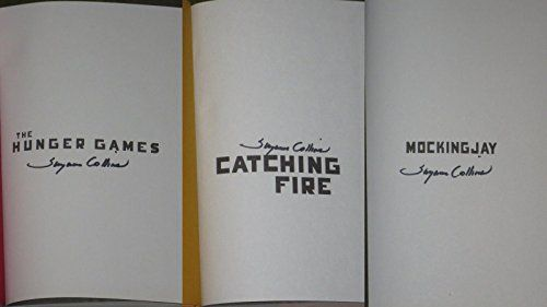 SUZANNE COLLINS THE HUNGER GAMES SIGNED COMPLETE SET CATCHING FIRE EXACT PROOF @ niftywarehouse.com #NiftyWarehouse #HungerGames #TheHungerGames #Movie